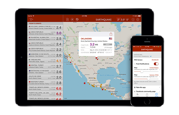Earthquake app for ios for iphone ipad and apple watch gumiabroncs Gallery